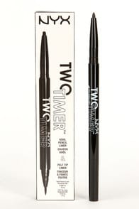 NYX Jet Black Two Timer Dual Ended Eyeliner at Lulus.com!
