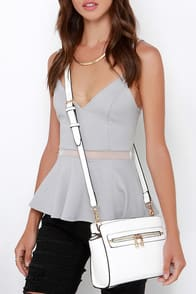 Zip-a-Dee-Doo White Purse at Lulus.com!