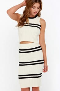 Prep School Black and Cream Two-Piece Dress at Lulus.com!