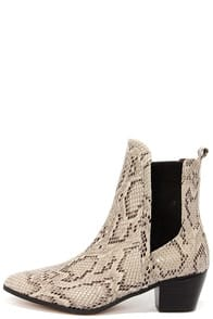 Report Signature Iggby Snakeskin Chelsea Boots at Lulus.com!