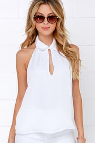 Elite Life White Top at Lulus.com!