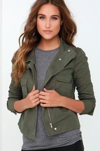 BB Dakota Pax Olive Green Jacket at Lulus.com!