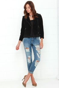 Dittos Selena Medium Wash Destroyed Ankle Skinny Jeans at Lulus.com!