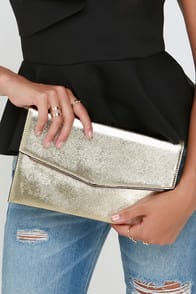 Starlit Sky Gold Clutch at Lulus.com!
