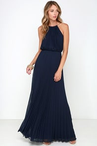 Bariano Melissa Navy Blue Maxi Dress at Lulus.com!
