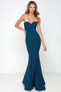 Sorella Navy Blue Strapless Maxi Dress at Lulus.com!