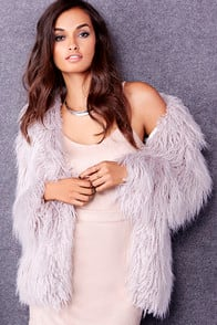 Glamorous Cavern Corners Grey Faux Fur Coat at Lulus.com!