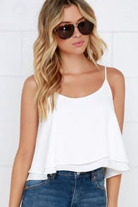 Should've Been Us Ivory Crop Top at Lulus.com!