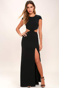Conversation Piece Black Backless Maxi Dress at Lulus.com!