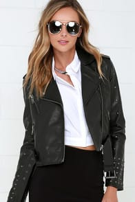 Amuse Society Rambler Black Vegan Leather Jacket at Lulus.com!