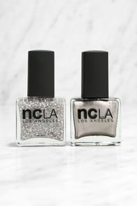NCLA Match Mad in Cali Sparkle Shine Silver Nail Lacquer Set at Lulus.com!
