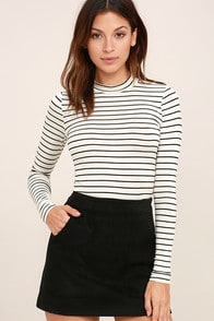 Anything is Posh-ible White Striped Top at Lulus.com!