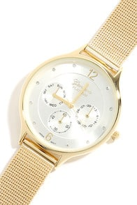 Mesh-ure of Time Gold Watch at Lulus.com!