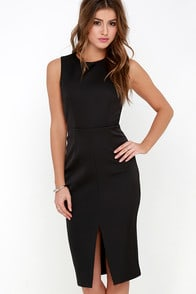 Keepsake The Only One Black Midi Dress at Lulus.com!