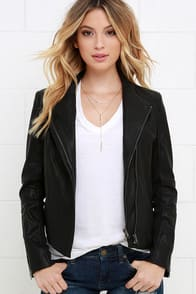 Chic Clique Black Vegan Leather Jacket at Lulus.com!
