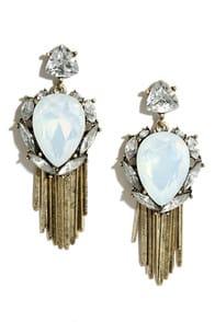 Spirit Dancer Gold and Clear Rhinestone Earrings at Lulus.com!