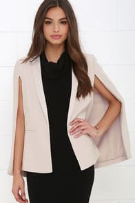 BB Dakota Janae Light Taupe Cape at Lulus.com!