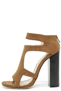 You Can Tell Brown Suede Cutout Heels at Lulus.com!
