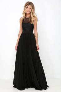 I'm Flattered Black Embroidered Maxi Dress at Lulus.com!