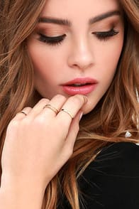 These Reveries Gold Ring Set at Lulus.com!