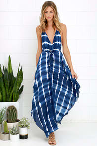 Tropi-Cali Love Blue Tie-Dye Maxi Dress at Lulus.com!
