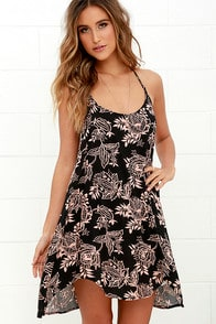 O'Neill Indiana Black Floral Print Dress at Lulus.com!