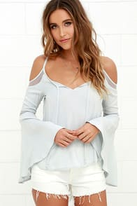 Others Follow Age of Innocence Light Grey Long Sleeve Top at Lulus.com!