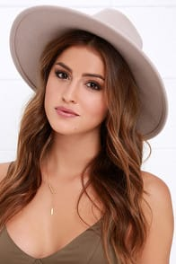 Billabong Moon Gaze Beige Fedora Hat at Lulus.com!