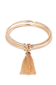 Sideshow Splendor Gold Bracelet at Lulus.com!