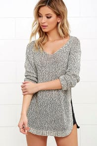 Icy London Icy France Black and Ivory Sweater at Lulus.com!