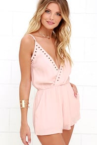 Second Look Blush Pink Romper at Lulus.com!