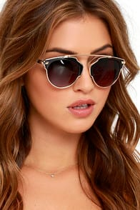 Modern Metropolitan Black and Gold Sunglasses at Lulus.com!