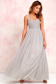 Sunday Kind of Love Grey Tulle Gown at Lulus.com!