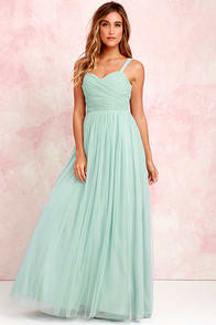 Sunday Kind of Love Seafoam Tulle Gown at Lulus.com!
