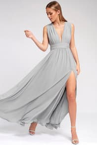 Heavenly Hues Light Grey Maxi Dress at Lulus.com!