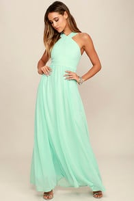 Air of Romance Mint Maxi Dress at Lulus.com!