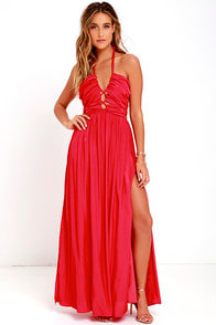 Maximum Magnificence Red Maxi Dress at Lulus.com!