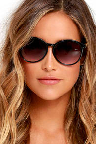 More than Enough Black Sunglasses at Lulus.com!