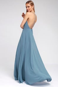 Mythical Kind of Love Slate Blue Maxi Dress at Lulus.com!