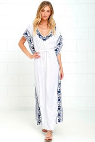 Mila Soul Ivory Maxi Kaftan Dress at Lulus.com!