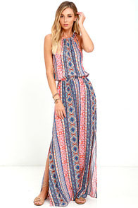Estuary Orange Print Maxi Dress at Lulus.com!