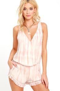 Gentle Fawn Pearl Peach Tie-Dye Romper at Lulus.com!