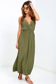Glamorous Command Attention Olive Green Maxi Dress at Lulus.com!