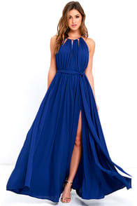 Gleam and Glide Royal Blue Maxi Dress at Lulus.com!
