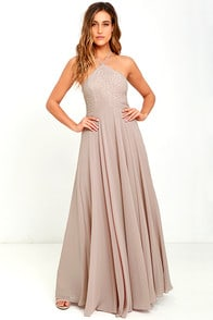 Everlasting Enchantment Taupe Maxi Dress at Lulus.com!