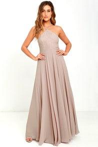 Everlasting Enchantment Taupe Maxi Dress at Lulus.com!