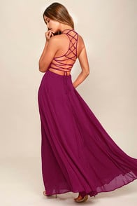 STRAPPY TO BE HERE MAGENTA MAXI DRESS at Lulus.com!
