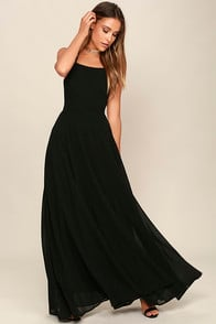 Strappy to be Here Black Maxi Dress at Lulus.com!