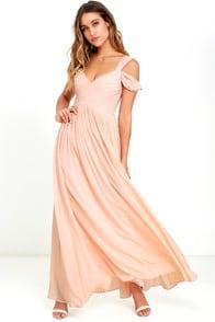 Make Me Move Blush Pink Maxi Dress at Lulus.com!