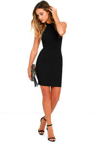 Endlessly Alluring Black Lace Bodycon Dress at Lulus.com!